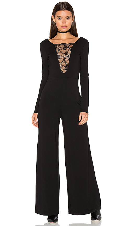 Nightcap Lace Inset Jumper in Black. - size 1 (also in 2)