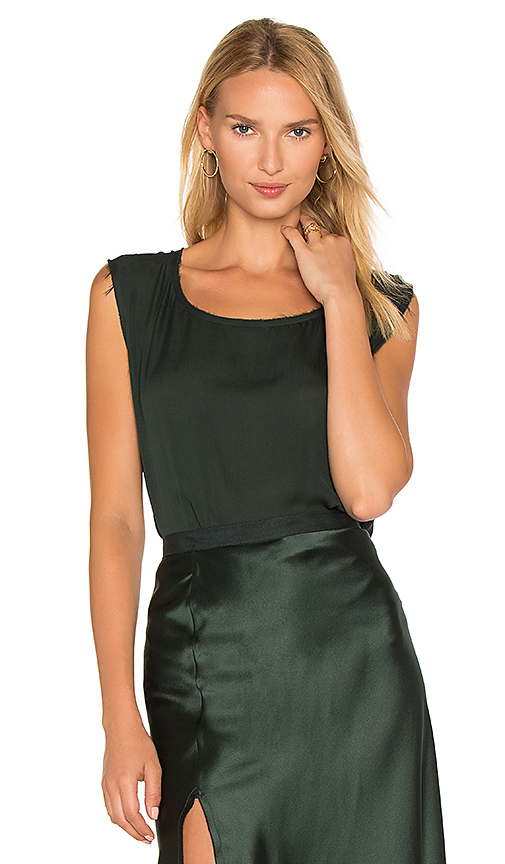 NILI LOTAN Sadie Tank in Dark Green