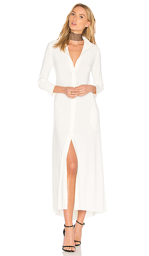 Norma Kamali Long Swing Dress in Ivory