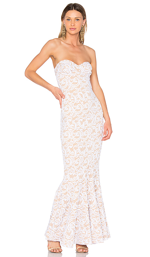 Norma Kamali Corset Gown in White