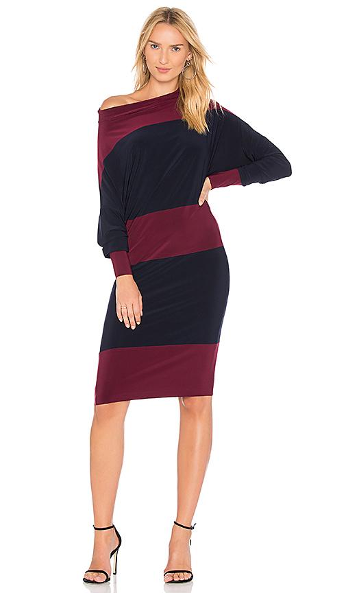 Norma Kamali Spliced All in One Dress in Navy