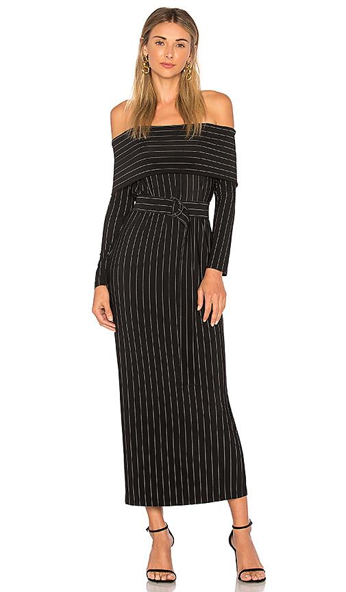 Norma Kamali Cowl Neck Dress in Black