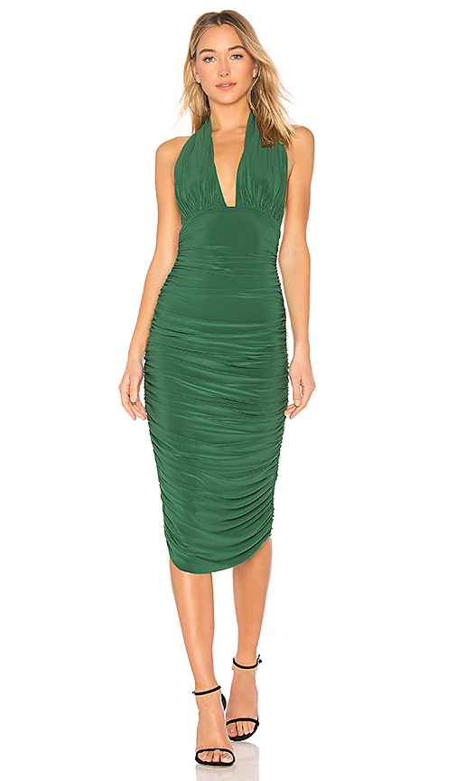 Norma Kamali Halter Dress in Green. - size XS (also in L,M,S)