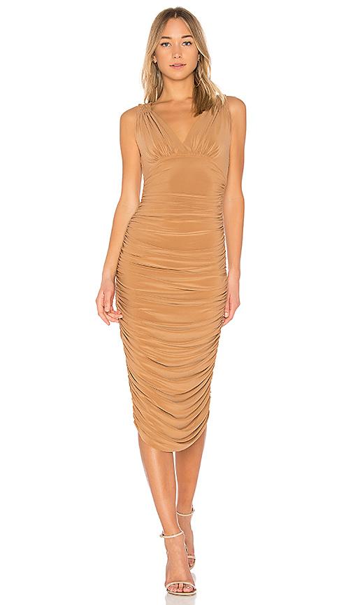Norma Kamali Tara Dress in Brown