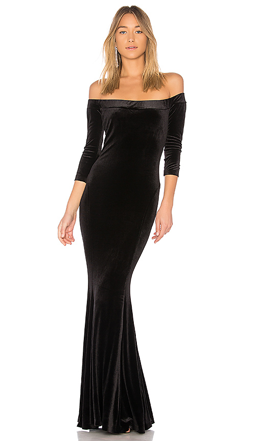 Norma Kamali Fishtail Gown in Black