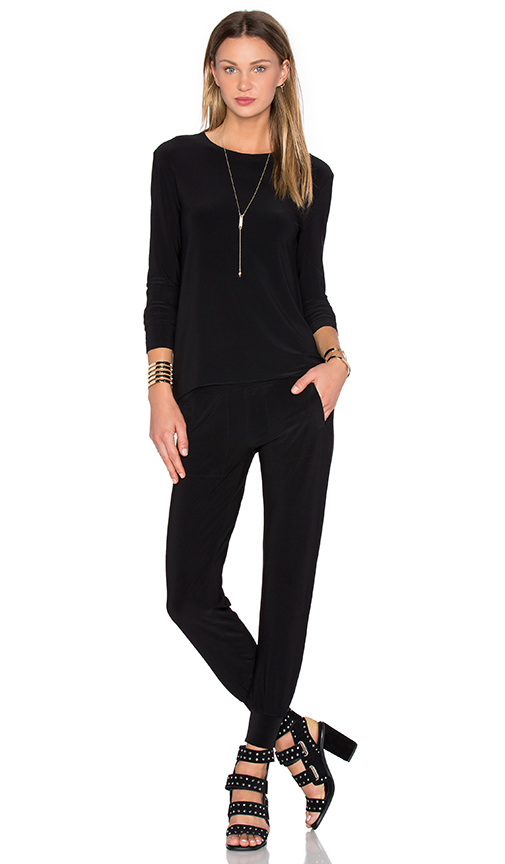 Norma Kamali Go Travel 3 Pack Top Pant & Dress in Black