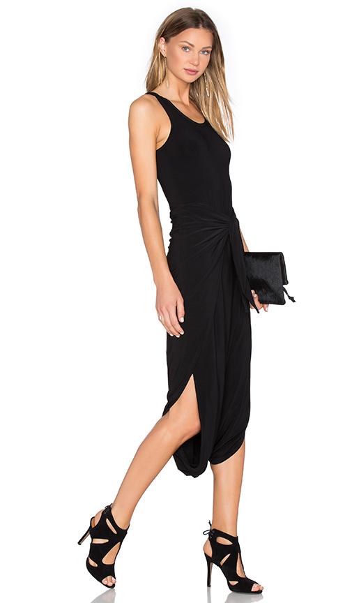 Norma Kamali Racer Diaper Dress in Black