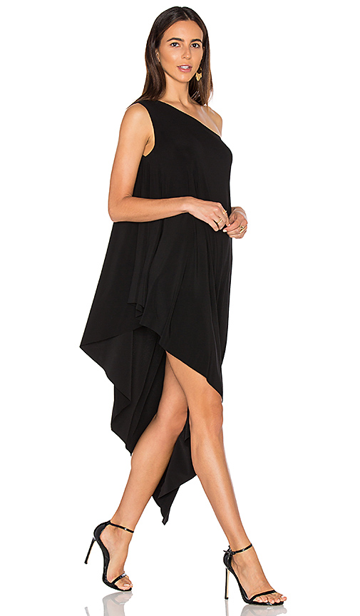 Norma Kamali One Shoulder Diagonal Tunic in Black. - size S (also in XS)