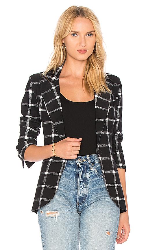 Norma Kamali Single Breasted Blazer in Black