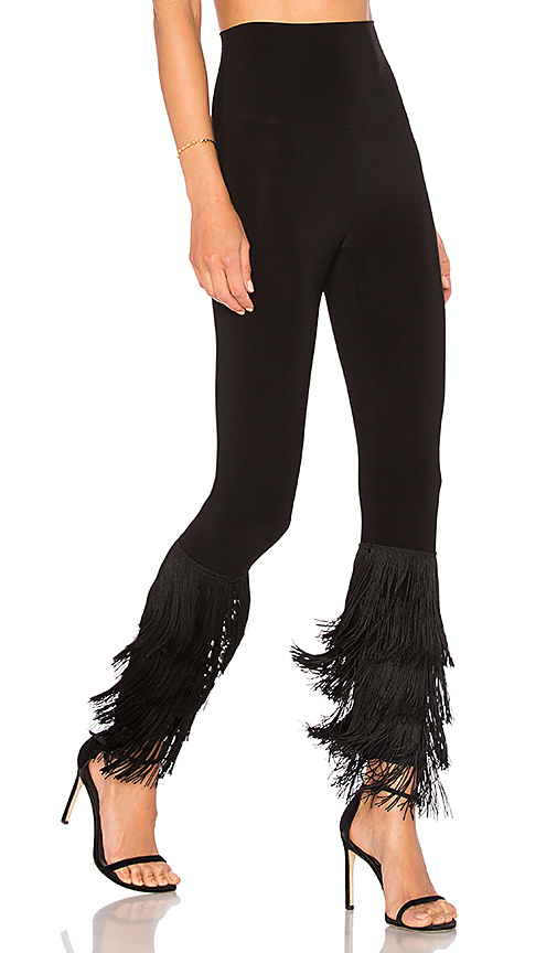 Norma Kamali Fringe Hem Legging in Black. - size M (also in L,S)