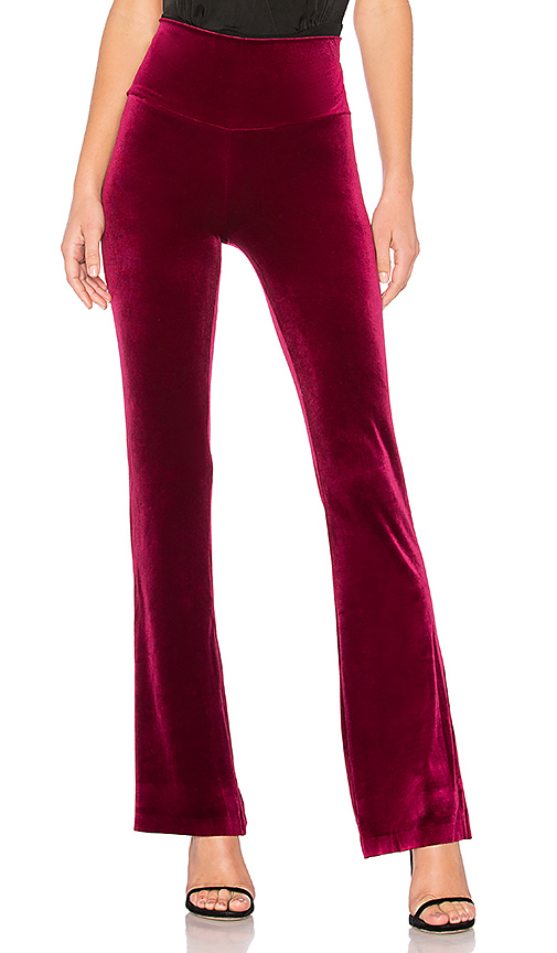 Norma Kamali Boot Pant in Burgundy. - size XS (also in M,S)