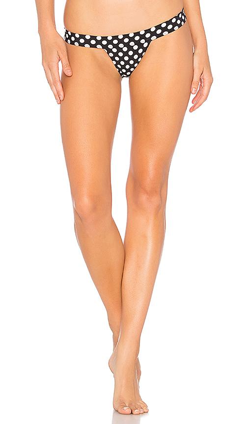 Norma Kamali Banded Bikini Bottom in Black