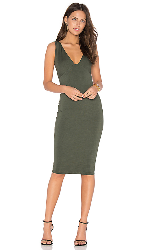 Nookie Muse Midi Dress in Green