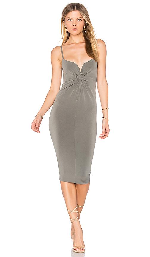 Nookie Monroe Twist Midi Dress in Gray