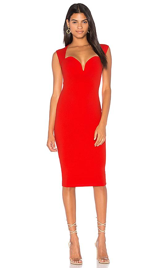 Nookie Madonna Midi Dress in Red