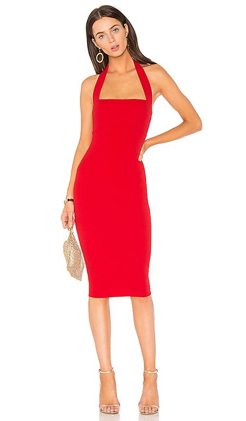 Nookie Boulevard Midi Dress in Red
