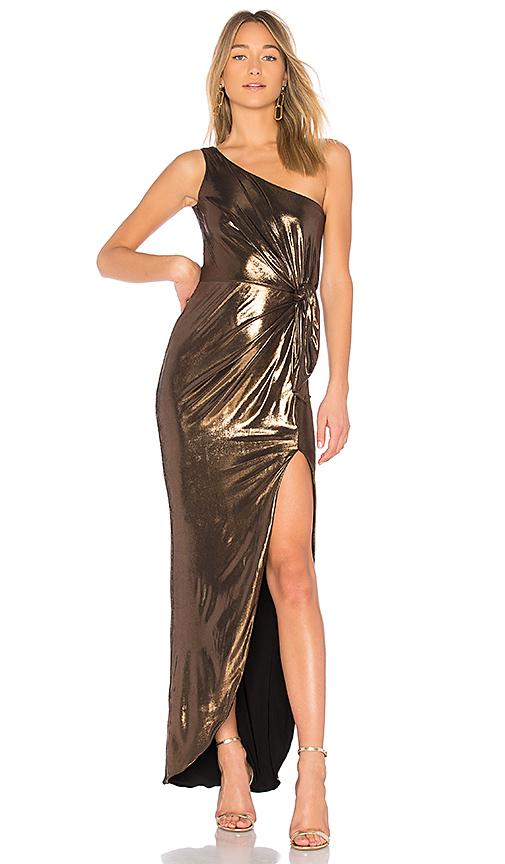 Nookie X REVOLVE Disco Drape Dress in Metallic Bronze