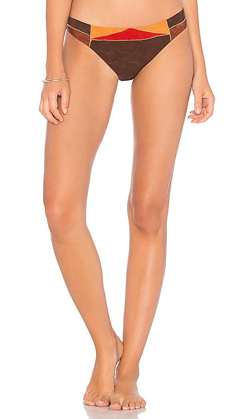 Nanette Lepore Charmer Bikini Bottom in Brown