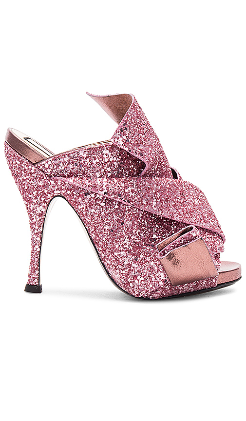 No 21 Bow Glitter Heel in Pink