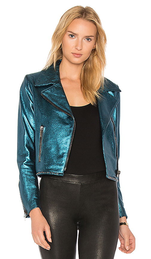 NOUR HAMMOUR Seine Jacket in Blue. - size 34 (also in 36,38,40)