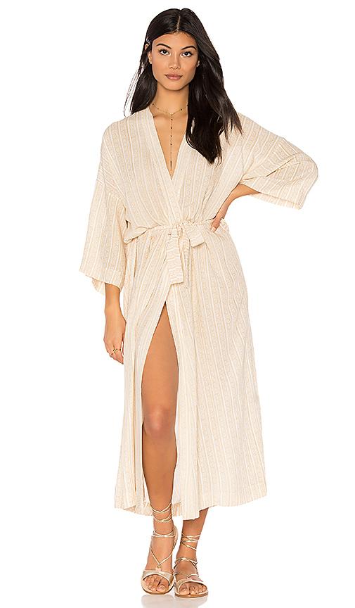 NOVELLA ROYALE Jane Robe Dress in Beige