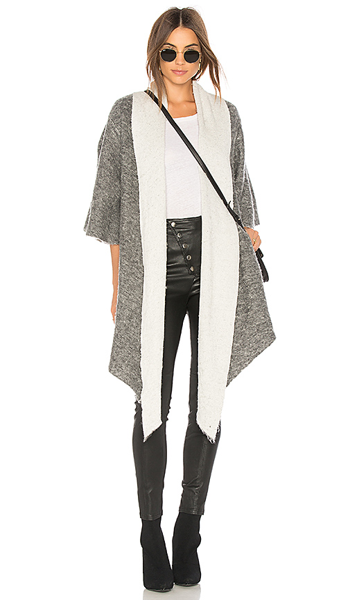 NSF Abasi Cardigan in Gray. - size XS (also in L,M,S)