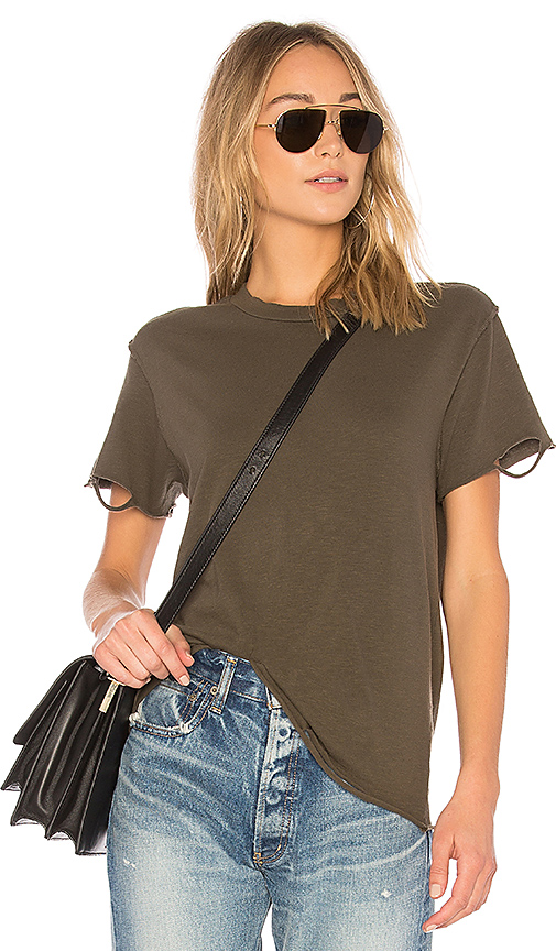 NSF Moore Slub Tee in Green. - size S (also in L,M,XS)