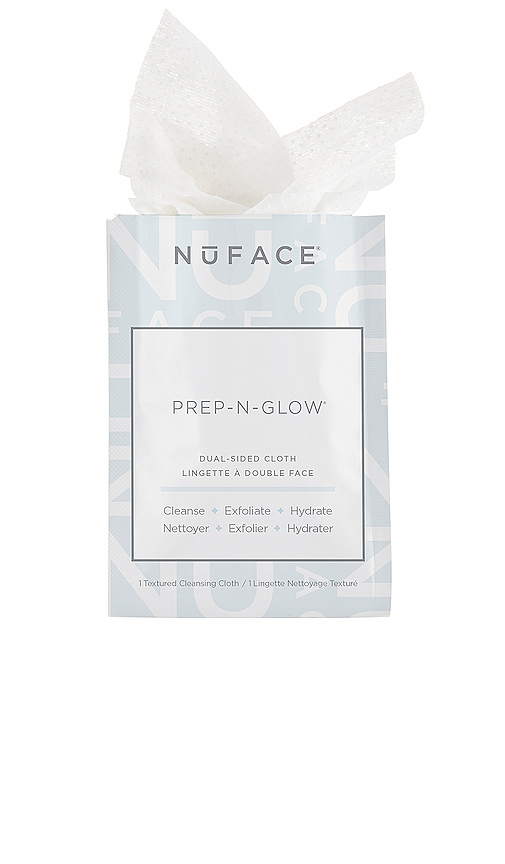 NuFACE Prep-n-Glow Dual Sided Cleansing Cloths 20 Pack in Beauty: NA.