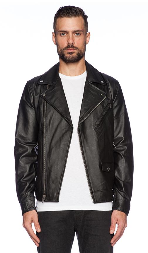 Obey Orchard Vegan Leather Jacket in Black | REVOLVE