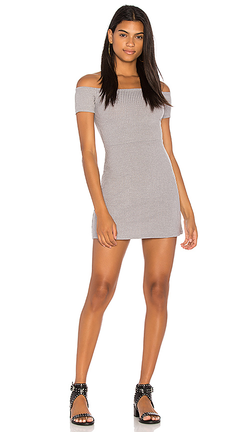 Obey Hi Tide Dress in Gray