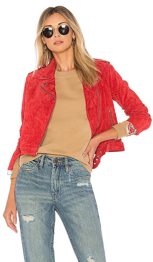 Obey x Debbie Harry St. Mark Moto Jacket in Red