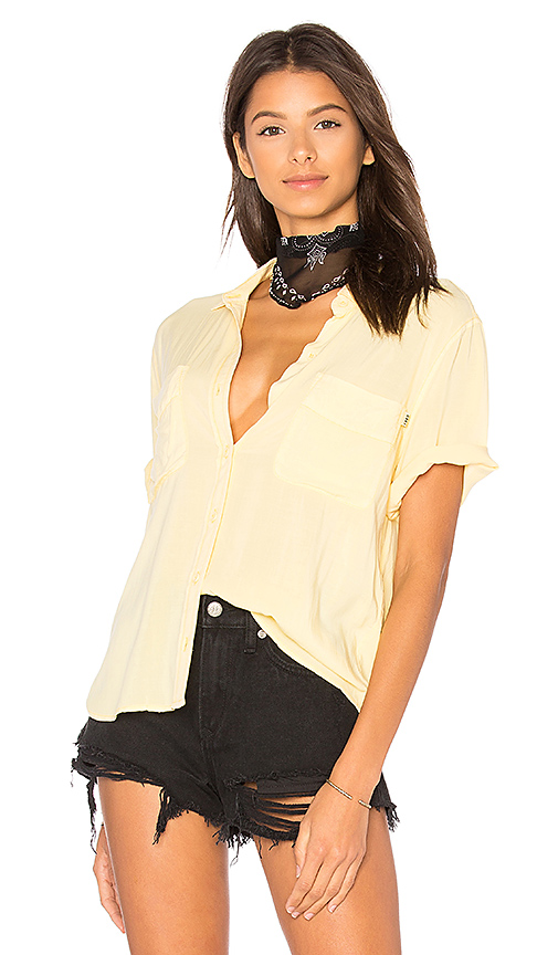 Obey St Marina Button Down in Yellow