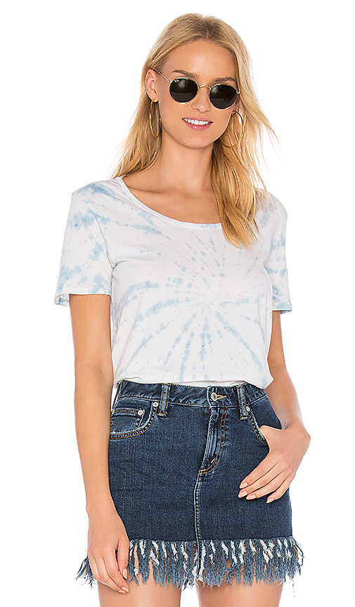 Obey Madison Scoop Neck Tee in Blue
