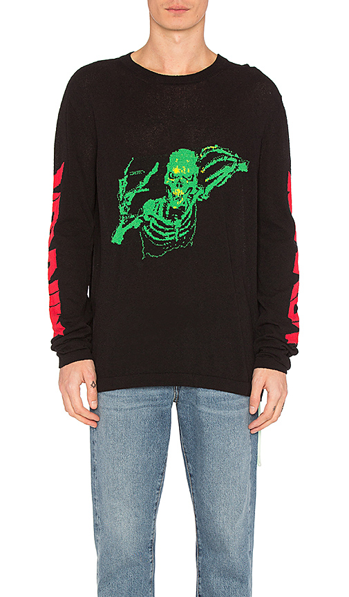 OFF-WHITE Skull Knit Rock Sweater in Black. - size S (also in XL)