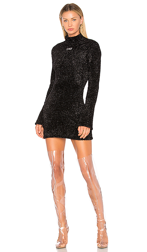 OFF-WHITE Sexy Knit Dress in Black