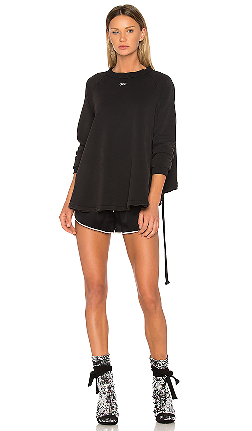 OFF-WHITE Back Ruffle Sweater in Black. - size XS (also in S)