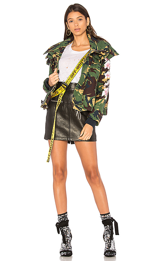 OFF-WHITE Diag Camou Cool Jacket in Green. - size 36/2 (also in 38/4)