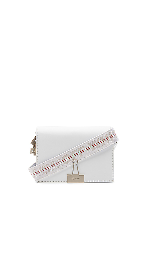 OFF-WHITE Flap Bag in White