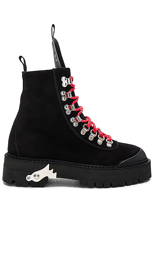 OFF-WHITE Hiking Mountain Boots in Black