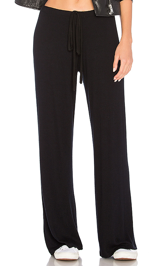 Olympia Theodora Daisy Wide Leg Pant in Black. - size L (also in M,S,XS)