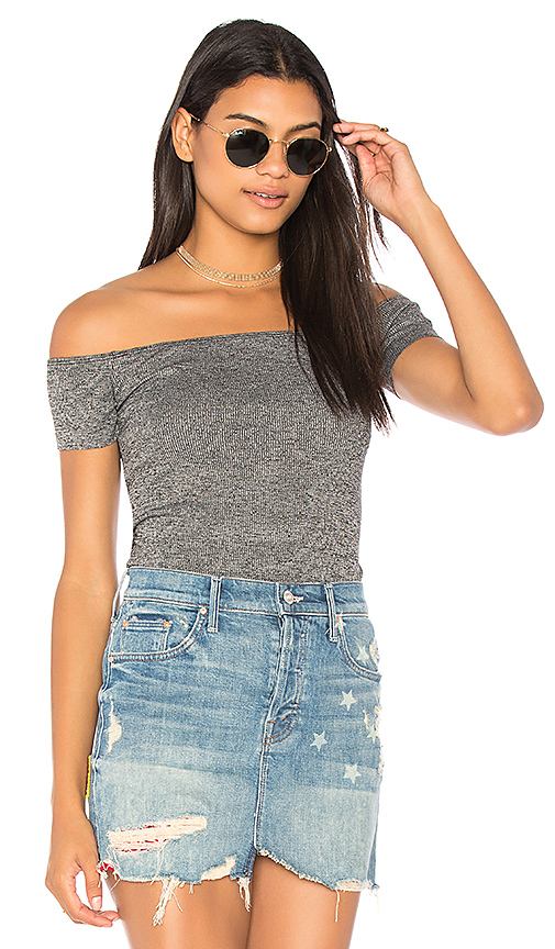 Olympia Theodora Betsey Top in Charcoal
