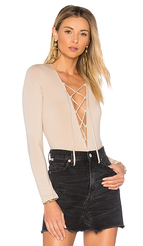 Photo of Olympia Theodora Bridget Bodysuit in Taupe - shop Olympia Theodora tops sales