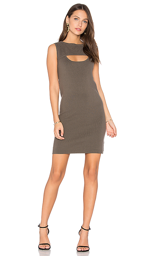 One Grey Day Oba Sweater Dress in Olive