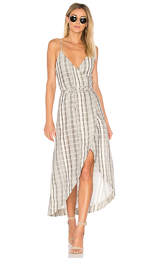 One Teaspoon The Edie Wrap Dress in Cream. - size M (also in S,XS)