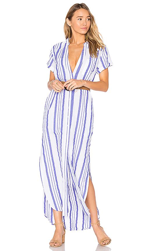 onia Kim Woven Dress in Blue