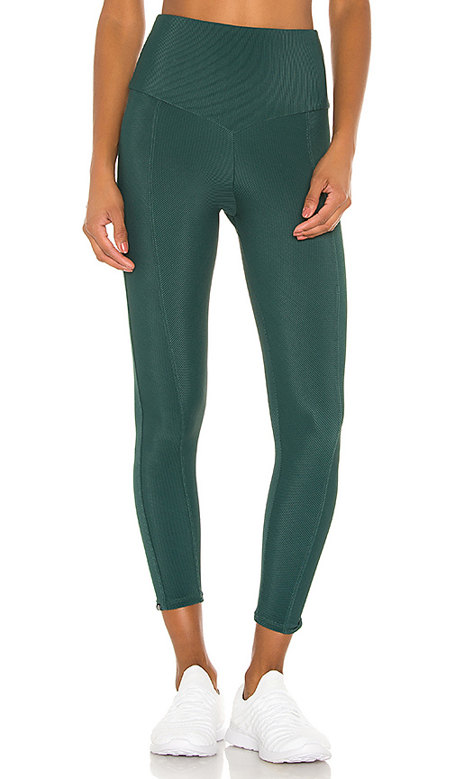 onzie Sweetheart Midi Legging in Green. - size M (also in L,S,XS)