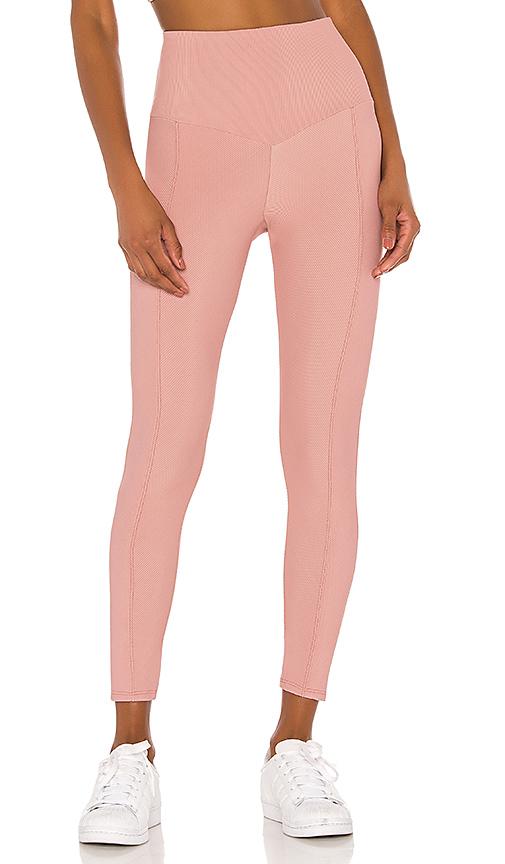 onzie Sweetheart Midi Legging in Blush. - size M (also in L,S,XS)