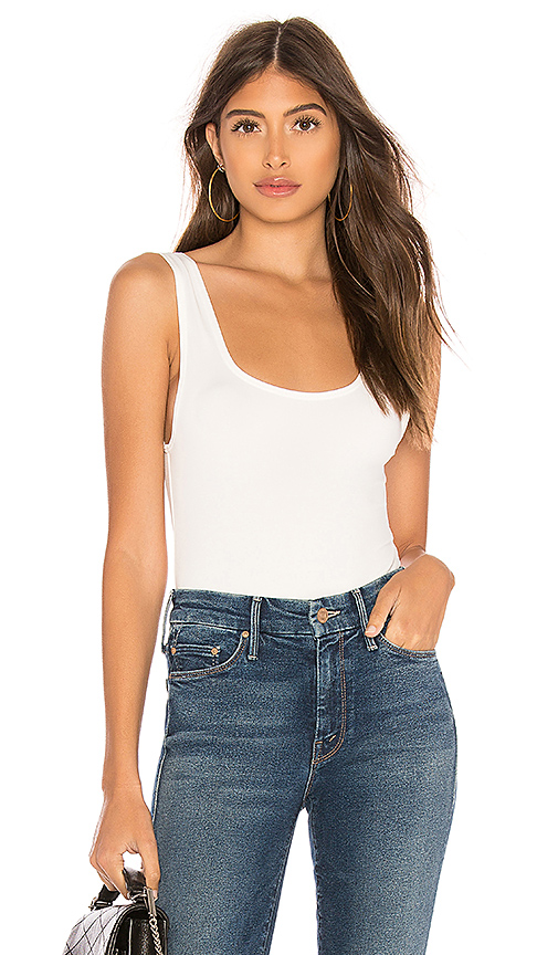 OW Intimates Hanna Bodysuit in White. Size S,M,L.