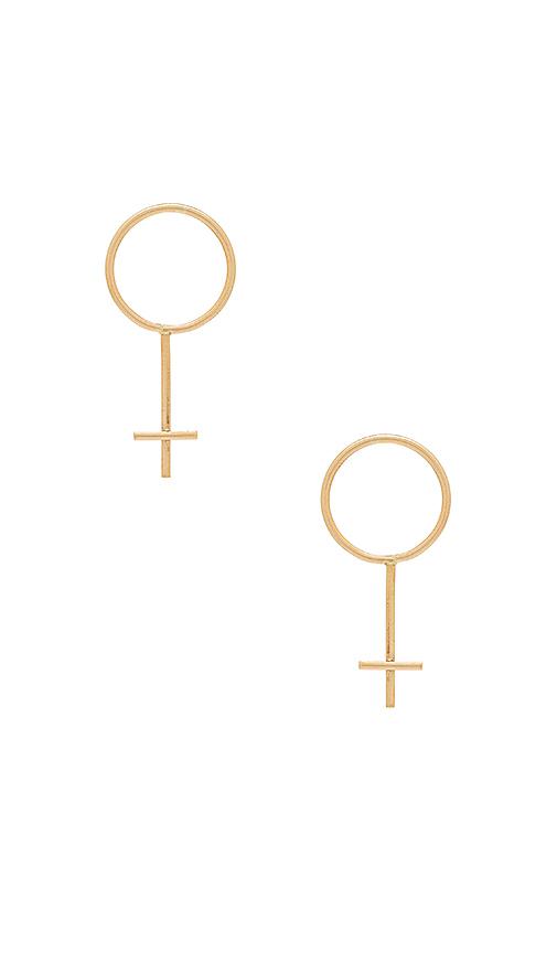 Paradigm Fundamental Earrings in Metallic Gold
