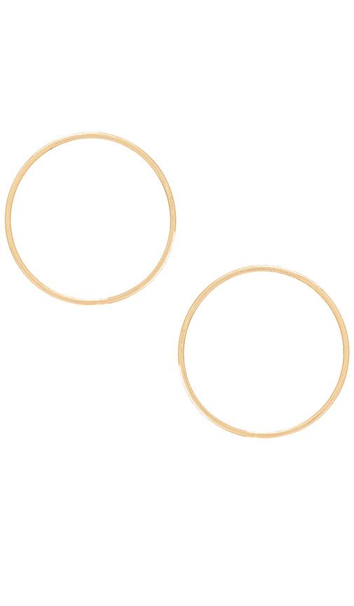 Paradigm Velocity Earrings in Metallic Gold